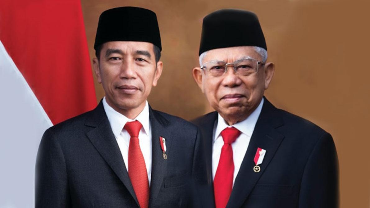 Foto Resmi Kenegaraan Jokowi Ma Ruf Pojok Batam